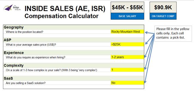 Inside Sales Compensation Calculator